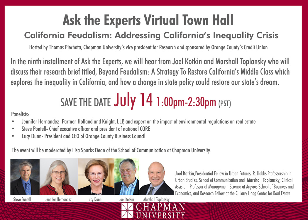 Virtual Town Hall: Addressing California's Inequality