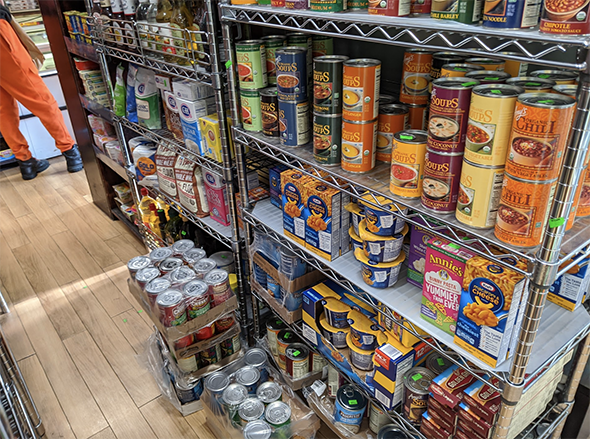 canned goods are well stocked at the moment