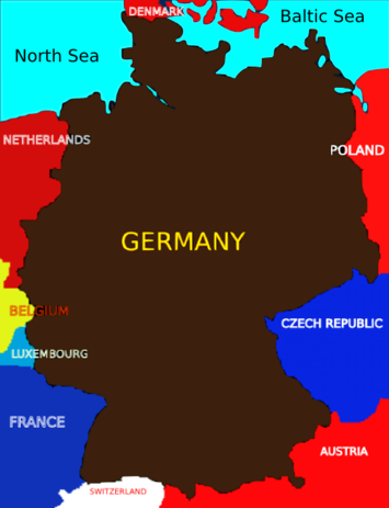 The Edges Of The Map Newgeographycom - Germany map simple