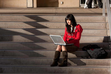 Student on Steps, U of Denver.jpg