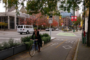 bike lane, segregated, Vancouver.jpg