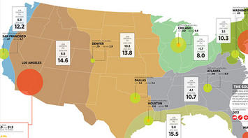 a map of america s future where growth will be over the next decade