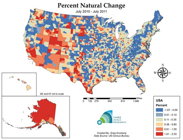 Is Negative Population Growth Upon Us Deaths Exceed Births In One - Cities us by growth rate map
