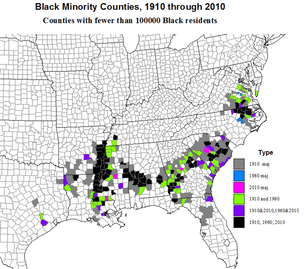 A Century Of Change In The Us Black Population 1910 To 2010
