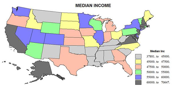 The Emerging Geography Of Inequality Newgeographycom - Poorest states in usa