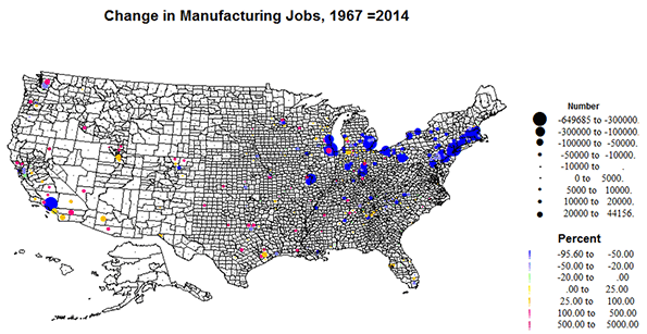 Where Do We Still Make Stuff In America Newgeographycom - Where Are The Industrial On The Us Map