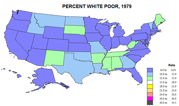 Years Of US Poverty To Newgeographycom - Us map of deep poverty