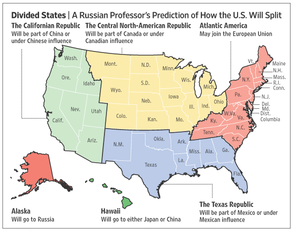 A Less Sinister Revision Of The States That Comprise The Republic Occurred In The 1970s When Geography Professor C Etzel Pearcy Proposed Redrawing The