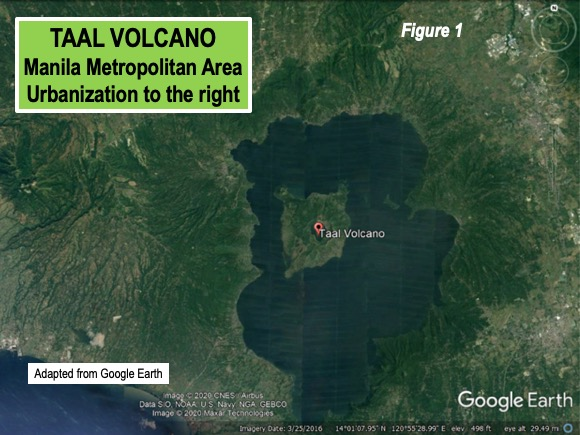 Manila area close to Taal volcano
