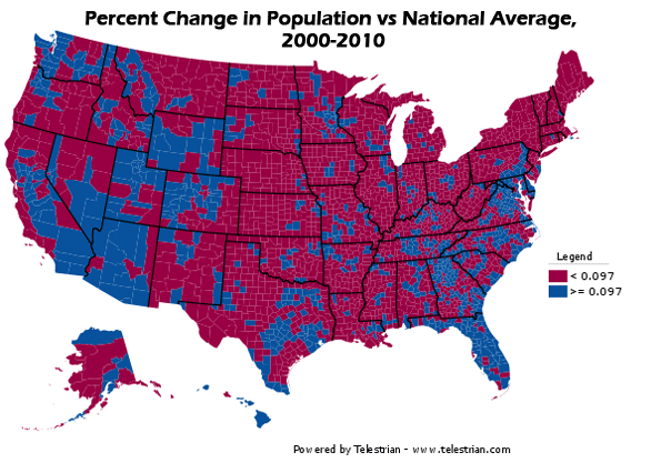 Census Offers Portrait Of America In Transition - Mapping the 2010 us census
